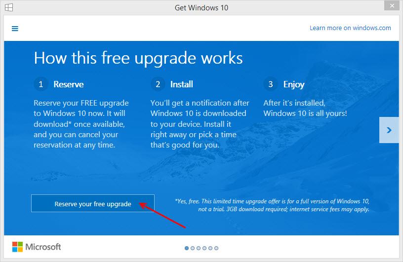 Nuevo sistema operativo con sólo hacer un click en un botón.